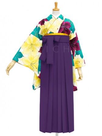 着物No.933 百合づくし(オフ) 袴03 紫