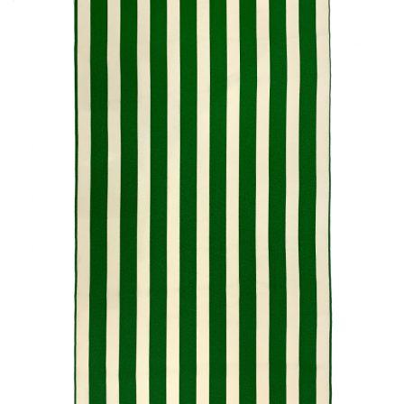 【袷小紋】縞・グリーン