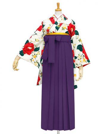 着物No.903 乙女椿(オフ) 袴03 紫